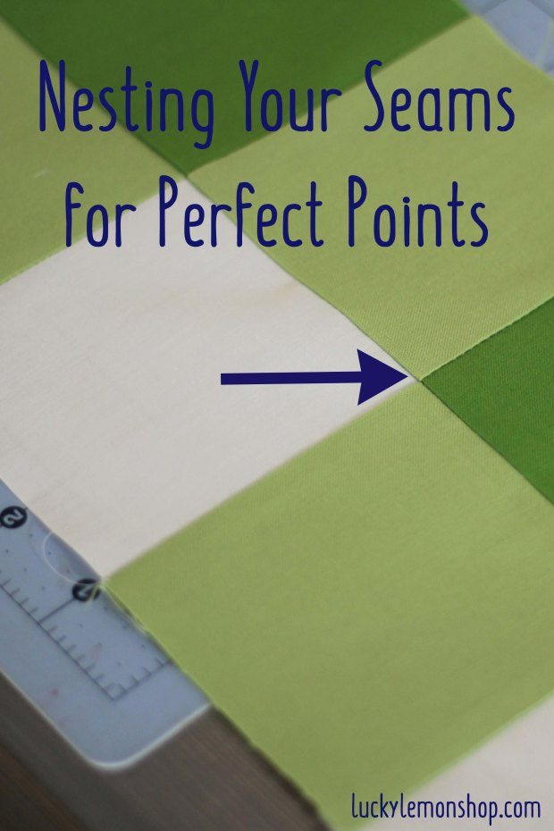 Nesting Your Seams for Perfect Points